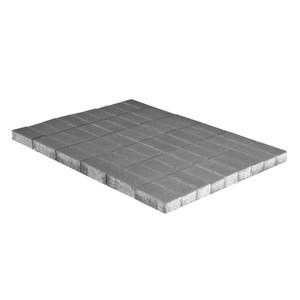 Тротуарная плитка Прямоугольник, Серый (70 мм) 240x120 ''BRAER''