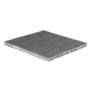 Тротуарная плитка Прямоугольник, Серый, h=80 мм, двухслойная ''BRAER''