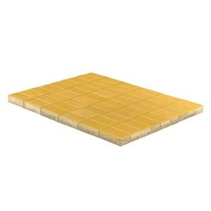Тротуарная плитка Прямоугольник, Желтый (40 мм) 200x100 ''BRAER''