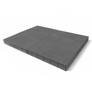 """Тротуарная плитка Сити, серый, h=80 мм """"BRAER"""""""