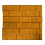 """Тротуарная плитка Старый город """"Ландхаус"""", Оранжевый (60 мм) 80x160, 160x160, 240x160 ''BRAER''"""
