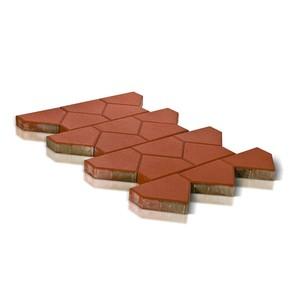 Тротуарная плитка Тиара, красный (60 мм) 238x200 ''BRAER''