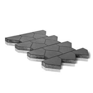 Тротуарная плитка Тиара, серый (60 мм) 238x200 ''BRAER''