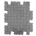 Тротуарная плитка Волна, Серый (60 мм) 240x135 ''BRAER''