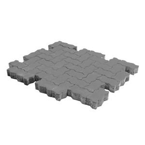 Тротуарная плитка Волна, Серый (80 мм) 240x135 ''BRAER''