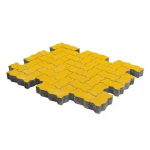 Тротуарная плитка Волна, Желтый (80 мм) 240x135 ''BRAER''