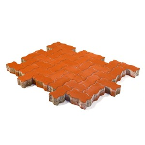 Тротуарная плитка Волна, Красный (60 мм) 240x135 ''BRAER''